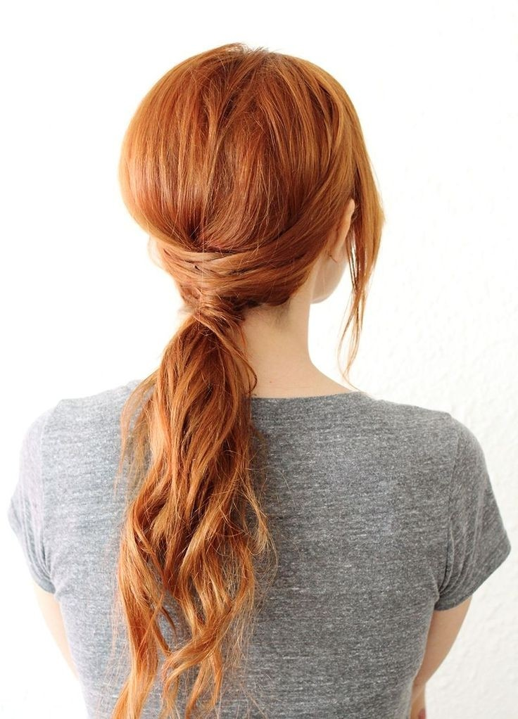 Easy-Low-Ponytail-Hairstyle-Long-Hair-Styles-2015